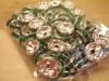 Rondella Strass 8 mm argento color verde x100