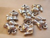 Charms metallico gatto seduto x10