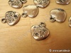 Charms metallico cuore made in love x10