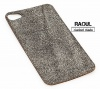 SKIN COVER VERA PELLE FINITURA NERA OLD STYLE PER IPHONE 4-4S