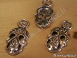 Charms metallico teschio grande x3