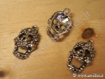 Charms metallico teschio medio x5