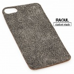 SKIN COVER VERA PELLE FINITURA NERA OLD STYLE PER IPHONE 5-5S