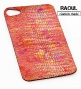 SKIN COVER VERA PELLE FINITURA LUCERTOLA ROSSA  PER IPHONE 4-4S