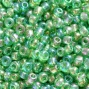 Conteria perline in vetro lime green mix 2 mm x 20 gr